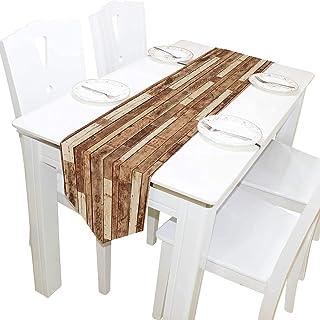 MODORSAN Planche en Bois de Mur d'arrière-Plan,13 x 90 Inchs Table Runner Moderne Ferme Décor,Vacances de Cuisine Table de...