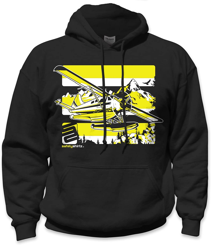 SafetyShirtz Beaver Float Plane Hoody Black w Yellow