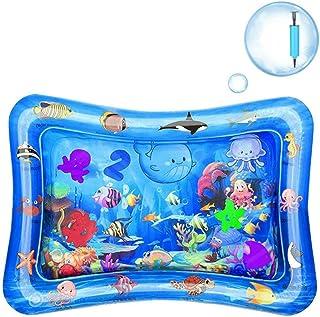 GuDoQi Alfombra Inflable con Agua, Prueba Fugas PVC Llena Agua Actividad del bebé Centro Tapete Juego Juguetes para el Bebé Recién Nacido(66 x 50CM)