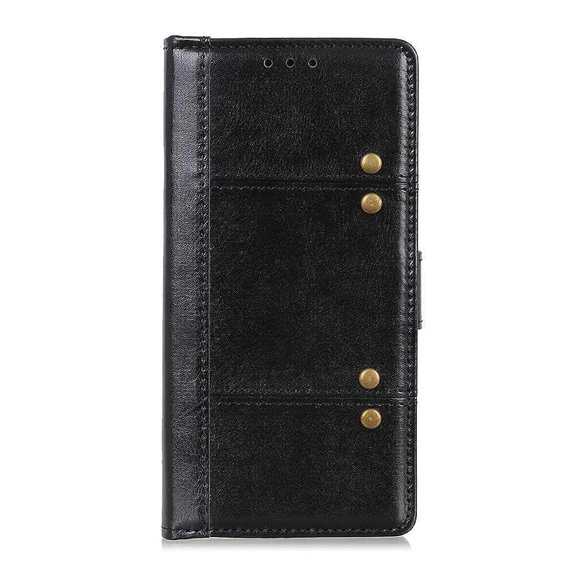 竜巻成分ルートOMATENTI Huawei Mate 20 Pro ケース, 簡約風 軽量薄型 良質 PU レザー 財布型 ビジネス ケース, 衝撃吸収 液晶保護 カード収納 横置きスタンド機能付き マグネット開閉式, 黒