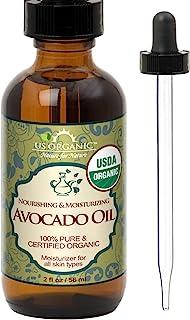 Sponsored Ad - US Organic Avocado Oil Unrefined Virgin, USDA Certified Organic, 100% Pure & Natural, Cold Pressed, in Ambe...