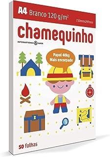 Papel Sulfite A4, Chamequinho, 120 gramas, Chamex, 29881, Branco, International Paper, 50 Folhas