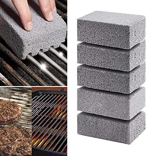 Bloque de ladrillo de limpieza de plancha de parrilla,Ladrillos de limpieza de parrilla de piedra pómez,para parrillas de barbacoa, cocinas de superficie plana (5PCS)