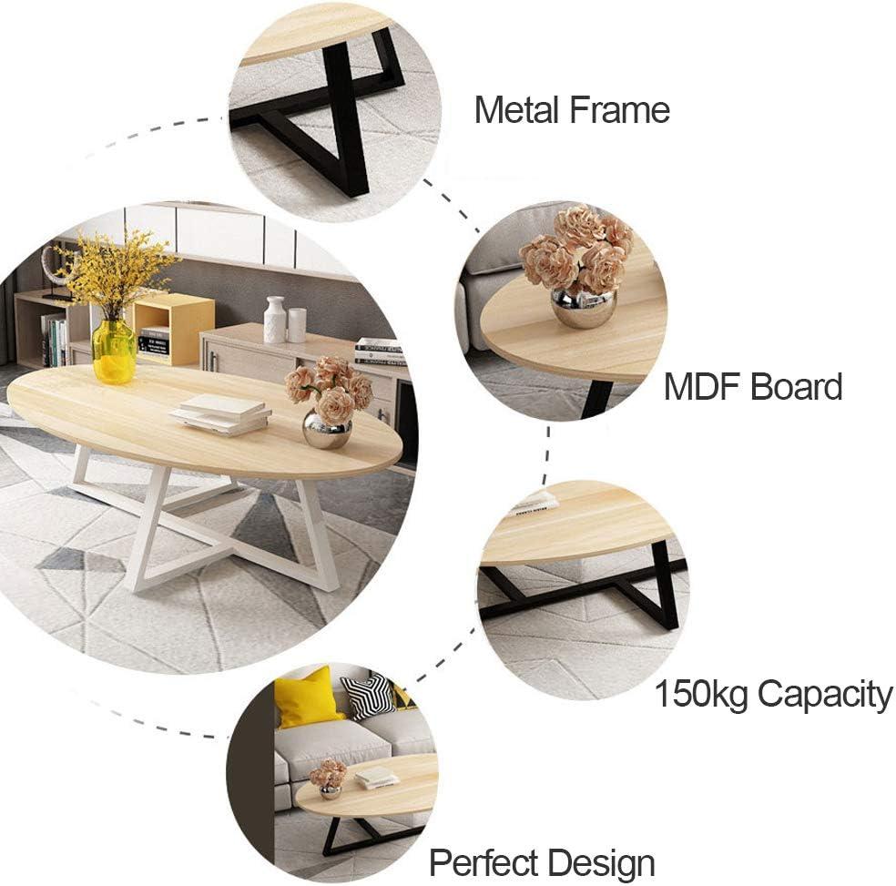 Table Basse Ovale Table dappoint Bout de Canap/é Salon Table De Canap/é Caf/é Nordique Moderne Scandinave Petit Appartement M/énage D/écoration de la Maison Naturel