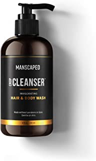 MANSCAPED™ The Crop Cleanser™, Men's All-In-One Invigorating Hair and Body Wash, Refreshing Shower Gel For Men, Male Care,...