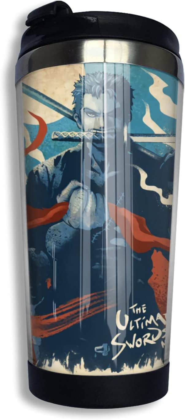 One Piece Roronoa Zoro Anime Coffee Mug Print Thermos Nov Fixed price for sale Cup 3d Selling and selling