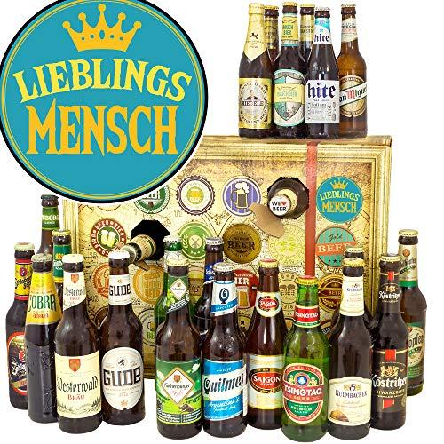 Lieblingsmensch + Adventskalender mit Bier + 24 x Bier Welt und DE