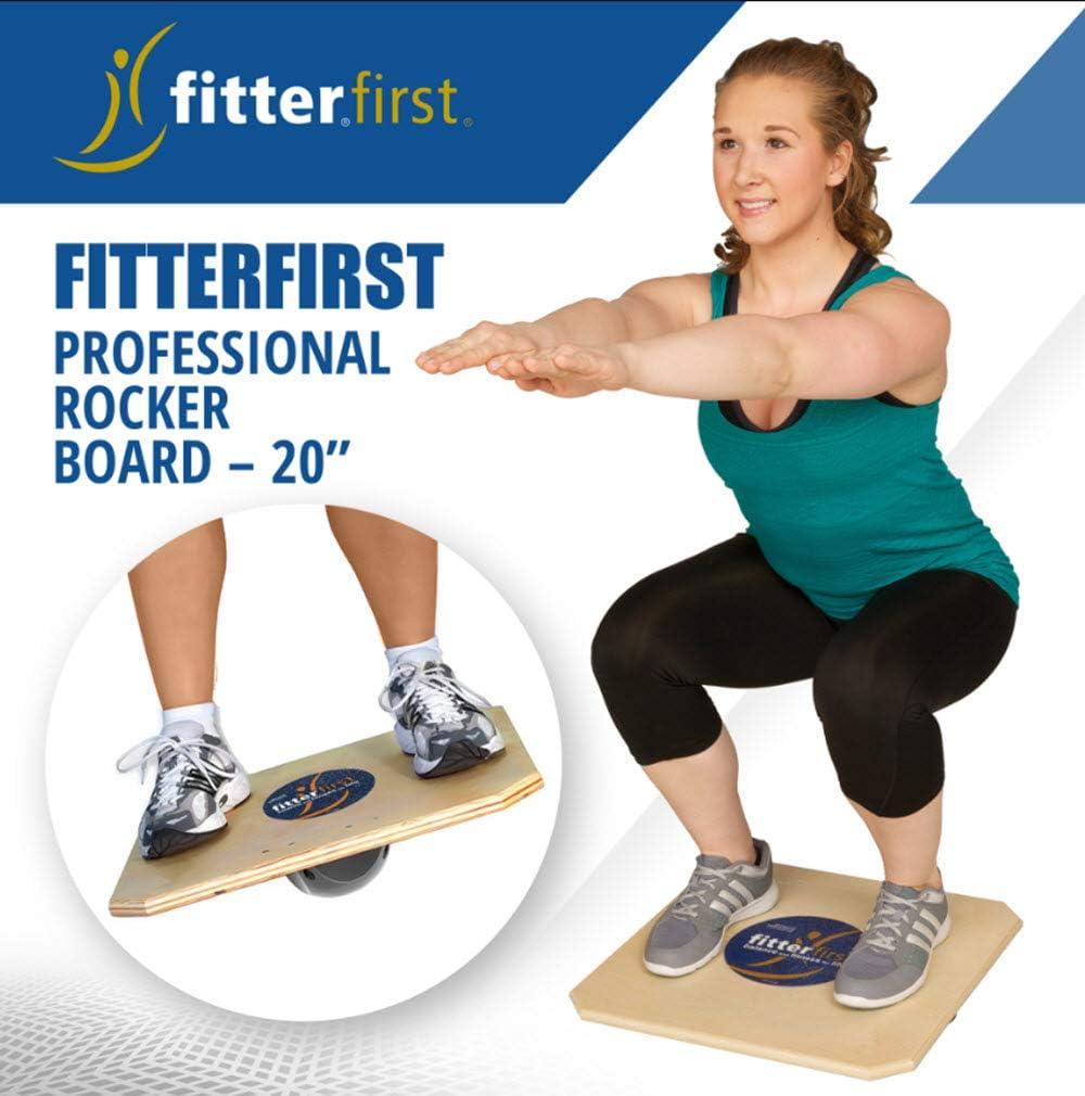 "Fitterfirst Professional Rocker Board – 20"" : Fitter First Balance Board : Sports & Outdoors"