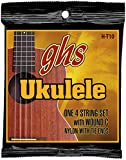 GHS Strings H-T10 Tenor Ukulele Strings, Black Nylon/Aluminum