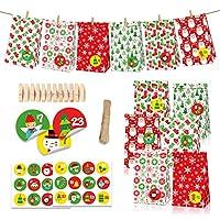 Formemory ギフトバッグ ラッピング袋 紙袋 クリスマスお菓子 小銭 ジュエリー 小物入れ 収納ポーチ プレゼント用 24点セット