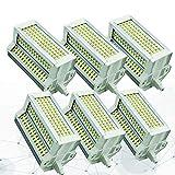 6X Bombilla LED R7S 118mm 50W J118 Blanco frío 6000K 500W Bombilla halógena R7S Reemplazo Bombillas de Foco LED Delgadas para lámpara de Techo Regulable
