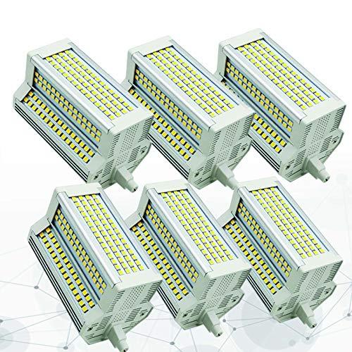 Bulbs 6X AC110-240V 50W Regulable R7S LED 118mm 3000K-6000K J118 500W Reemplazo de Bombilla halógena de Doble Punta 5400LM Ángulo de Haz de 220 °