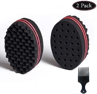 Magic Twist Hair Sponge, Barber Hair Brush Sponge, Styling Tool For Afro Curl, Coils, Dreadlocks (2 Pack)