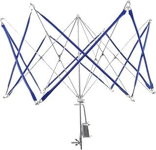 DIYARTS Foldable Yarn Winding Umbrella Manual Woolen Thread Skein Swifting Machine Rack Table Clasp Weaving Needleworking Rope Spinning Tool