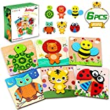 lenbest 6 Piezas Puzzles de Madera de Animales, Puzzles Infantiles,...
