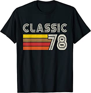 Classic Retro Number 78 - Born 1978 - Turning 78 Birthday T-Shirt