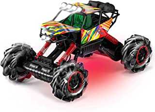 RC Truck, Kidome 1/12 Scale 2.4G Desert Off-Road Climbing RC Cars Dance with Music Colorful LED lights 14 Channel Direction Turning 360° Rotation High Speed Remote Control Car Toys for Boy Gift