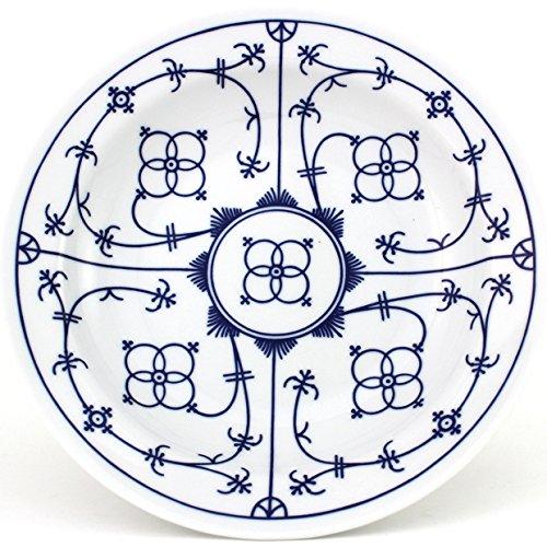 Eschenbach Porzellan Group Tallin Indischblau Teller tief 22 cm, Porzellan, Indigoblau, 1 x 1 x 1 cm