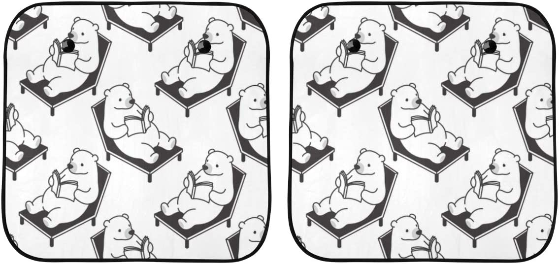 ENEVOTX High quality new Car Sun Shade Max 55% OFF Funny Reading Arctic Seriously Bear Wi