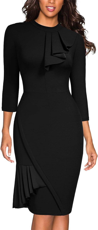 Miusol Women's Vintage Half Collar Slim Style Party Pencil Dress