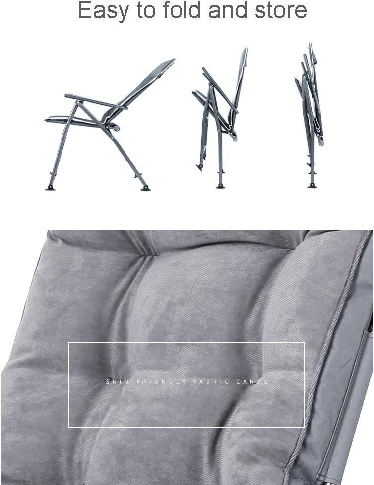 CIKO Chaises Pliantes, chaises de Bureau à Domicile, Pauses déjeuner, dortoirs pour étudiants, chaises d'ordinateur, Dossier, chaises de canapé Paresseux D
