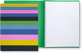 Kate Spade New York Concealed Spiral Notebook with 112 Lined Pages, Enchanted Stripe