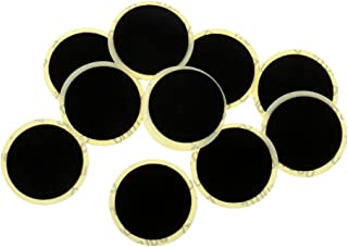 Perfk 25mm Self Adhesive Round Tire Patches for Motorcycle Bicycle Bike, Pack of 10