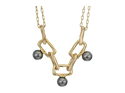 Alexis Bittar Pearl Studded Chain Link Necklace (10K Gold) Necklace