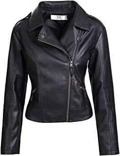Womens Slim Tailoring Faux Leather PU Short Jacket Coat Moto Biker Jacket