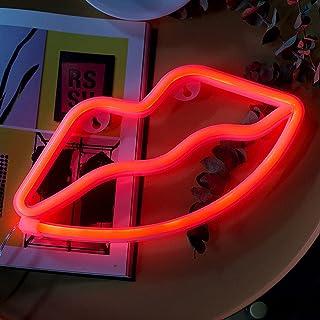 Kangl Ins Shape Neon Lights, décoration de la Chambre du Coeur de la Fille Love Lantern Accessoires Photo Net Celebrity De...