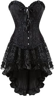 frawirshau Corset Dress Bustier Lingerie Corset Top and Steampunk Skirt Burlesque Costumes for Women Halloween Costume