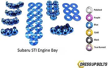 Blue Dress Up Bolt Kit for 2011-2014 Subaru Impreza WRX and STI (Engine Bay)