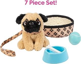 """Adora Amazing Pets """"Preston the Brown Pug"""" – 18"""" Doll Accessory includes 4.5"""