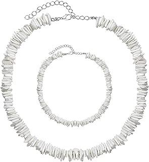 NICE-SHOW Shell Necklace Pearl Choker Hawaiian Seashell Necklace Choker Necklace Set Adjustable