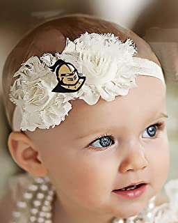 Future Tailgater UCF Central Florida Knights Baby/Toddler Shabby Flower Hair Bow Headband