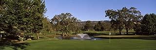 Posterazzi Fountain in a Golf Course Silverado Country Club Valley Napa County California USA Poster Print, (12 x 36)