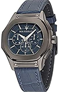 Maserati Blue Leather Blue dial Chronograph for Men [R8851116001]