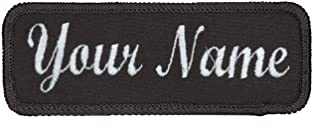 Name Tag Personalized and Embroidered 4 in Wide x 1.5 in Tall Same Day Ship. Wisconsin Made.
