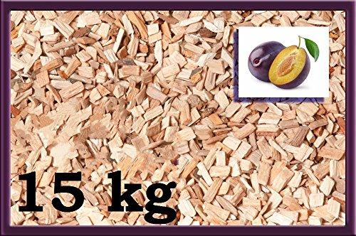 Räucherspäne Räuchermehl Räucherchips Holzspäne Pflaume für tolles Raucharoma beim Grillen - 100% natürliches Smoker-Holz | Ergiebige und sparsame wood chips 15 kg