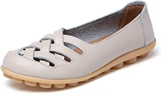 Women Sandals Summer Shoes 2019 Fashion Genuine Leather Casual Loafers Shoes Flats