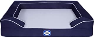 Sealy Lux Pet Dog Bed | Quad Layer Technology with Memory Foam, Orthopedic Foam, and Cooling Energy Gel. Machine Washable ...