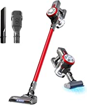 Dibea Upgraded 15000pa Cordless Lightweight Stick Vacuum Cleaner, Powerful Suction Bagless Rechargeable 2 in 1 Handheld Ca...