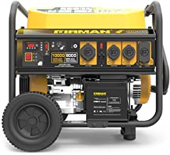 Firman P08004 10000/8000 Watt 120/240V 30/50A Remote Start Gas Portable Generator cETL Certified with Cover, Black