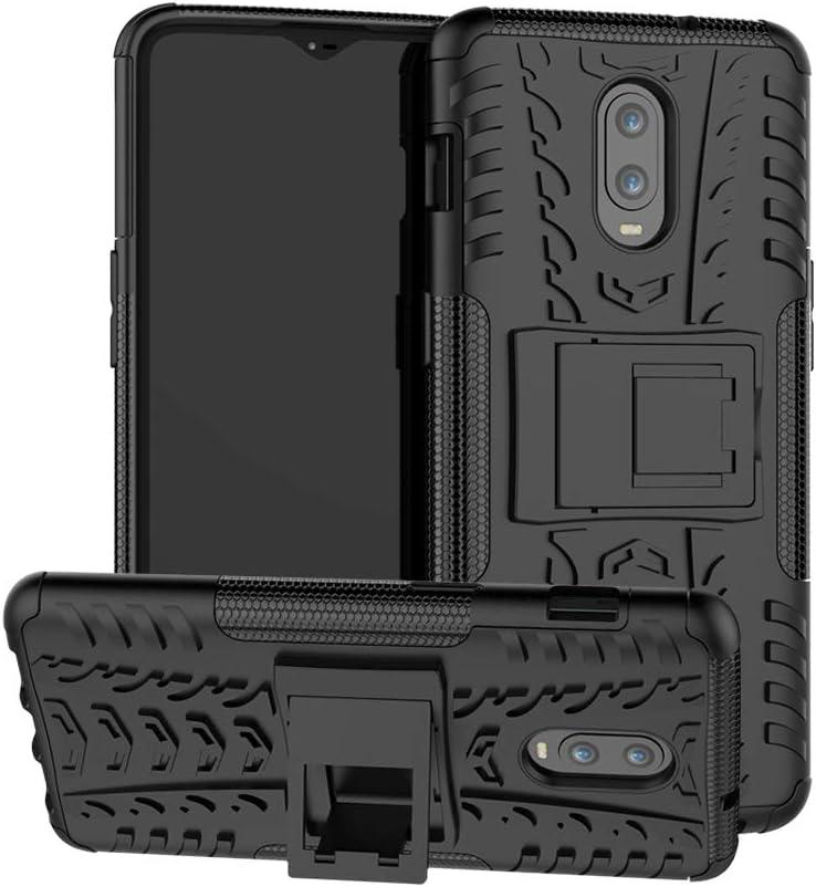 OnePlus 6T / OnePlus 7 Funda, FoneExpert® Heavy Duty Silicona híbrida con Soporte Cáscara de Cubierta Protectora de Doble Capa Funda Caso para OnePlus 6T / OnePlus 7
