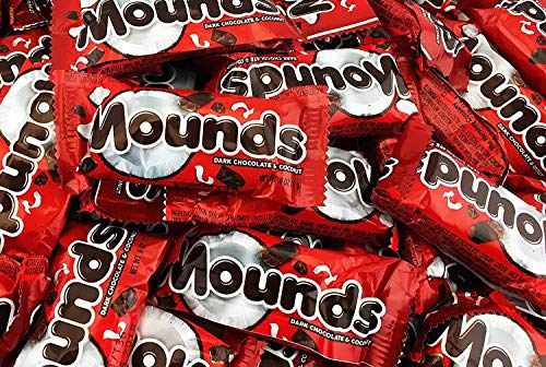 MOUNDS Dark Chocolate and Coconut, Snack Size (Bag of 2 Pound)