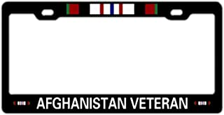 Hopes's Master Sergeant US Veteran Black License Plate Frame Aluminum Metal, Military Veteran Car License Plate Cover Holder for Front or Back License Tag for US Standard, 2 Holes with Screws