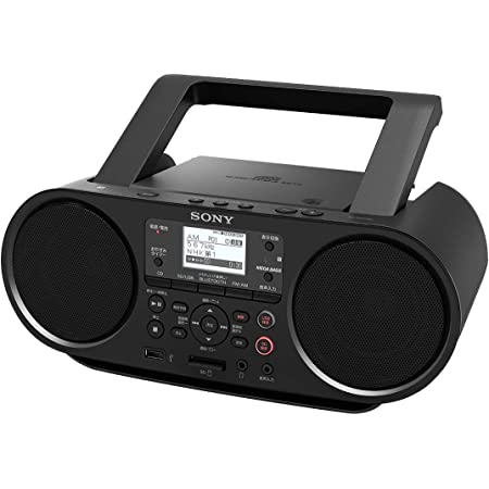 ソニー CDラジオ Bluetooth/FM/AM/ワイドFM対応 語学学習用機能 電池駆動可能 ブラック ZS-RS81BT
