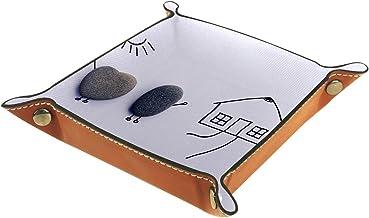 HOHOHAHA Składana taca do toczenia kości ze skóry PU uchwyt na kości pudełko do gier do D & D, RPG, gry stołowe lub biurka...