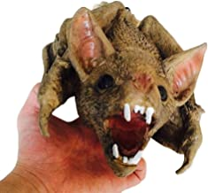 Beast Costume Mouth Mover Chamber of Secrets Furnishings Terror Toy Vampire Bat Fierce Haunted House Monster Scary Ghost Climb Corpse Hanging Props Novelties Standard Mask (Color : Brown)