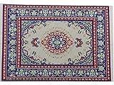 Xiton Puppenstuben Miniatur-Dekoration Fußboden Teppich Teppich Mehrfarbig 14 x 10 cm
